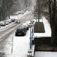 Sneeuw bereikt Amstelveen; sneeuwfoto's welkom